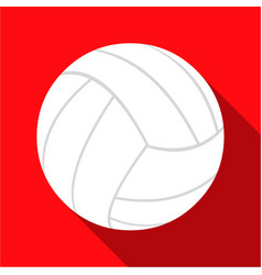Volleyball icon flate single sport icon from the vector