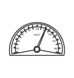 Gauge car automobile design vector