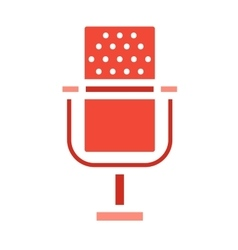 Microphone icons isolated vector
