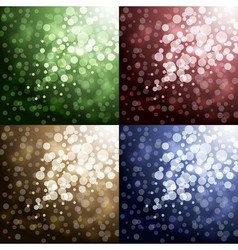 Lights on color backgrounds vector image