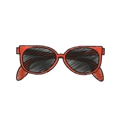 Isolated fashion glasses design vector