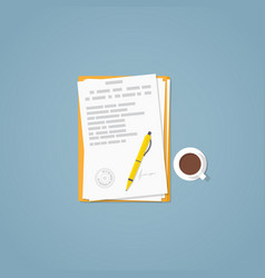 Flat paper document vector