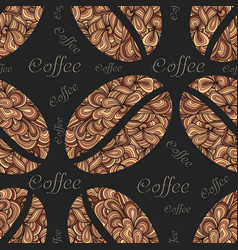 elegant coffee pattern element vector image