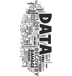 You lost your data don t panic text word cloud vector