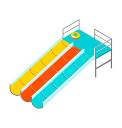 Water colorful slide isolated vector