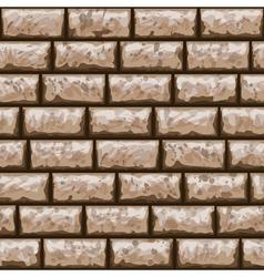 Dirty brick wall seamless pattern vector image