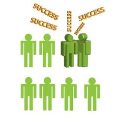 3d human character Congratulation Success vector image
