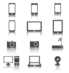 Gadget black and white vector