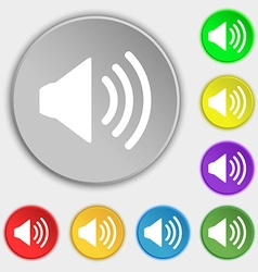 Speaker volume sign icon sound symbol symbols on vector