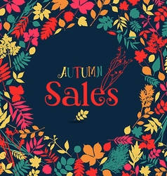 Autumn sales design vector