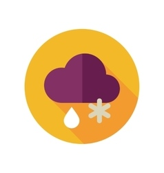 Cloud snow rain flat icon meteorology weather vector