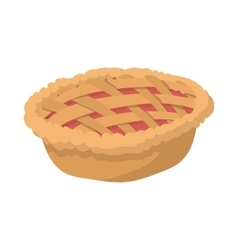 Pie cartoon icon vector