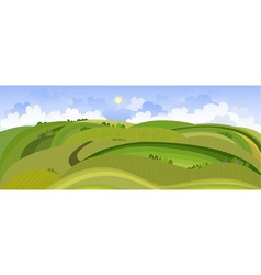 Landscape view of the spring field vector