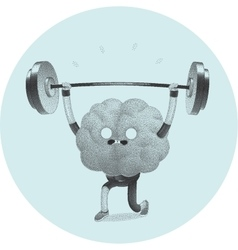 Train your brain weightlifting vector