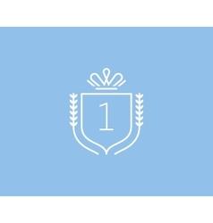 Elegant number 1 logotype premium numeral crest vector