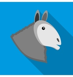 Head of horse icon in flat style vector