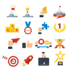 Achievement icons set vector