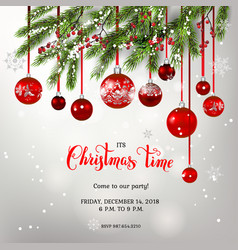 background and christmas tree decor vector image vector image