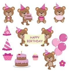 Bear birthday copy vector