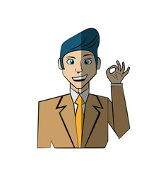cartoon man character concept vector image vector image