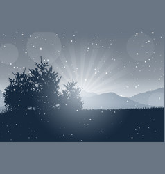 christmas tree landscape vector image