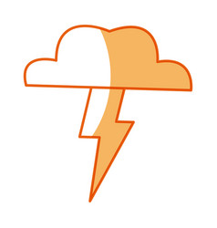 Cloud thunderbolt weather storm image vector