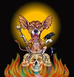 Devil dog-halloween concept vector