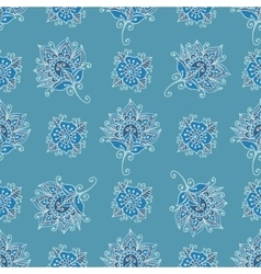 Flower paisley pattern vector image vector image