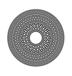 geometric seamless muslim ornament backdrop vector image