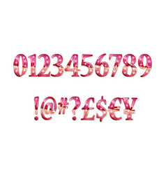 Gold glittering metal alphabet vector