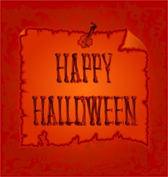 Happy halloween inscription of bones vector