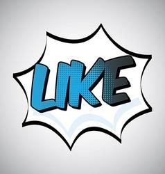 like design vector image