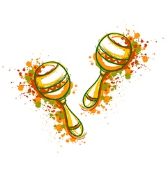 mexican maracas fiesta party vector image