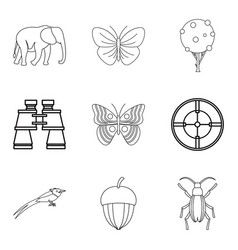 Natural philosopher icons set outline style vector