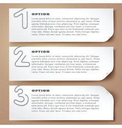 Paperclip numbers options abstract banners with vector