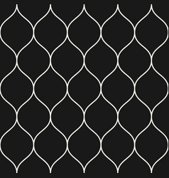 seamless pattern thin wavy lines black vertical vector image vector image