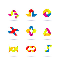 Set of minimal geometric multicolor symbols and vector