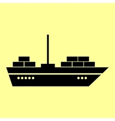 Ship sign Flat style icon vector image vector image