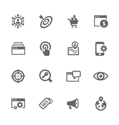Simple SEO Icons vector image vector image