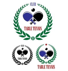 Table tennis emblems and symbols vector image