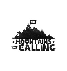 travel in the mountains climbing in the mountains vector image
