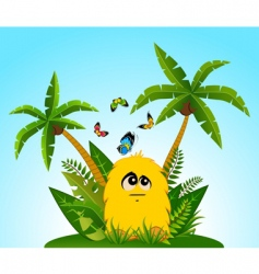 tropical cartoon animal vector image vector image