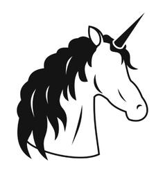 Unicorn icon simple style vector image