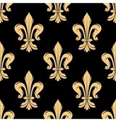 Vintage golden fleur-de-lis seamless pattern vector