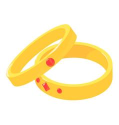 wedding ring icon isometric style vector image vector image