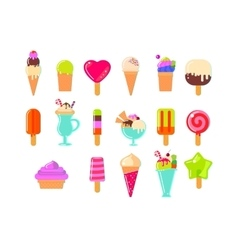 Ice cream and popsicles big set vector image