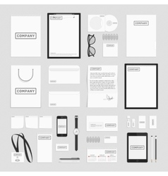 Corporate identity elements big set vector