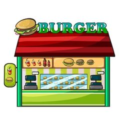 a fastfood restaurant vector image