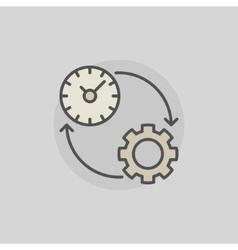 Colorful productivity icon vector