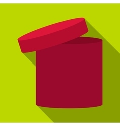 Tall box icon flat style vector